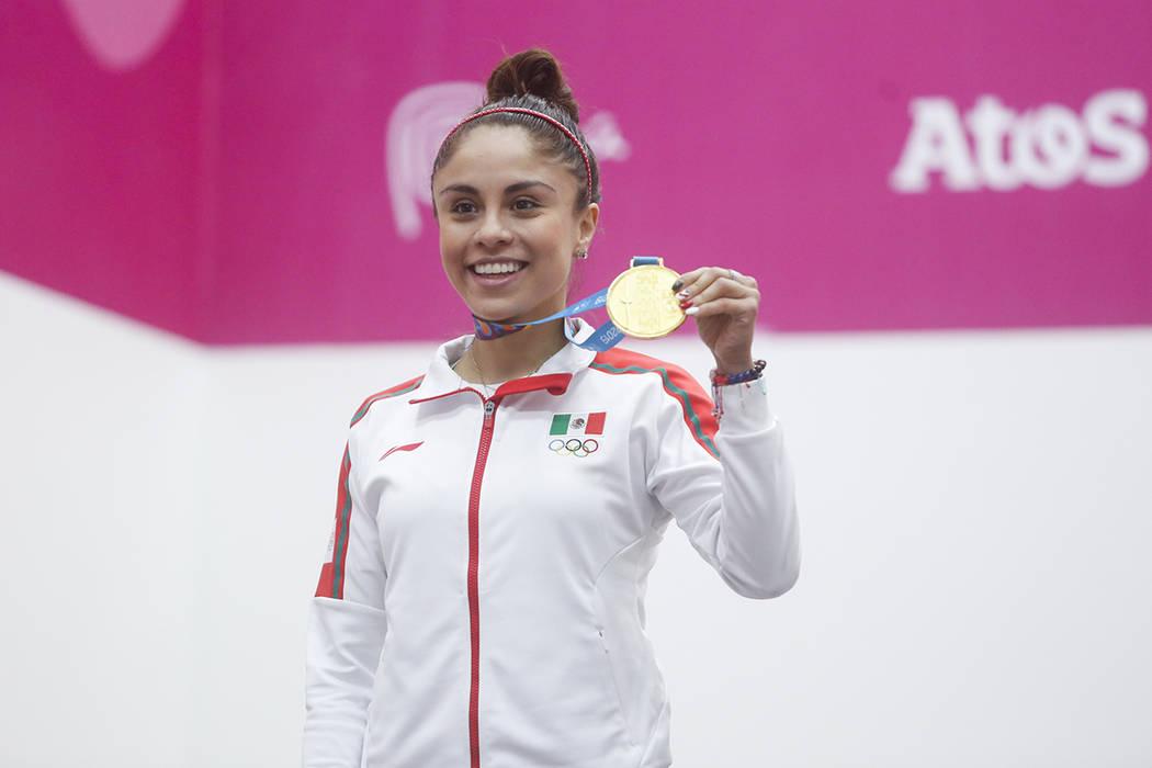ARCHIVO. Lima, 8 Ago 2019 (Notimex-COPAL19).- la mexicana Paola Longoria consiguie medalla de o ...