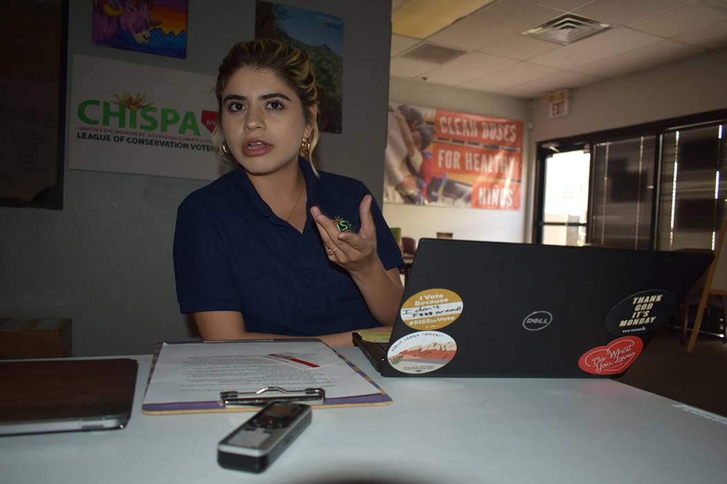Alexa Aispuro, organizadora de la juventud en Chispa Nevada, comentó estar agradecida con el t ...
