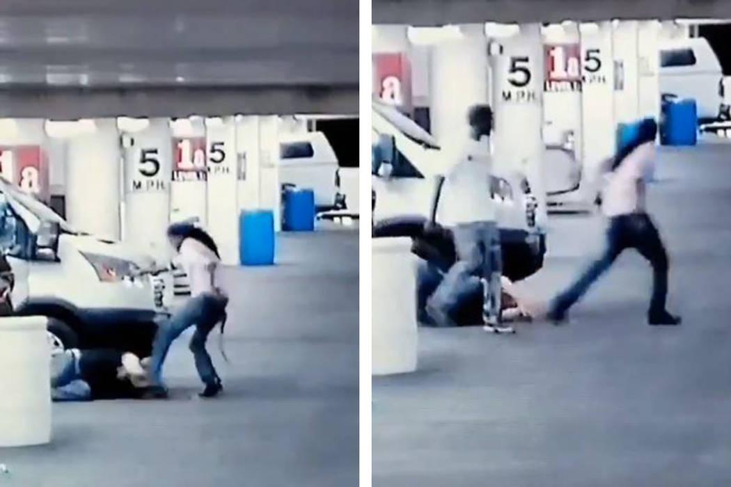 La policía de Las Vegas necesita ayuda para identificar a dos hombres involucrados en un robo ...
