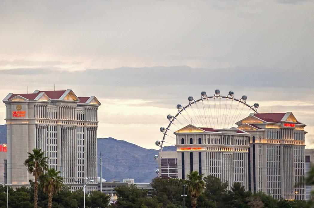 Caesars Palace en el Strip de Las Vegas el jueves 9 de mayo de 2019, en Las Vegas. (Benjamin Ha ...