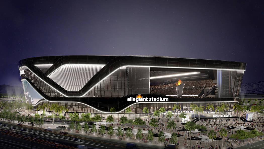 Representación del Estadio Allegiant de $1.9 mil millones en Las Vegas. (Aire Allegiant)