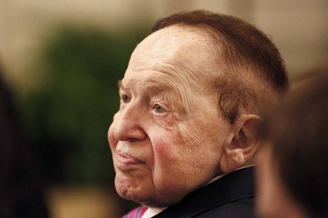 El CEO de Las Vegas Sands Corp., Sheldon Adelson, dijo que la compañía está cambiando el rum ...