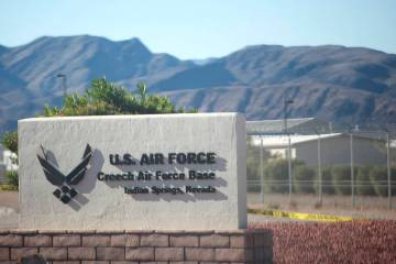 Base de la Fuerza Aérea Creech en Indian Springs. (Las Vegas Review-Journal)