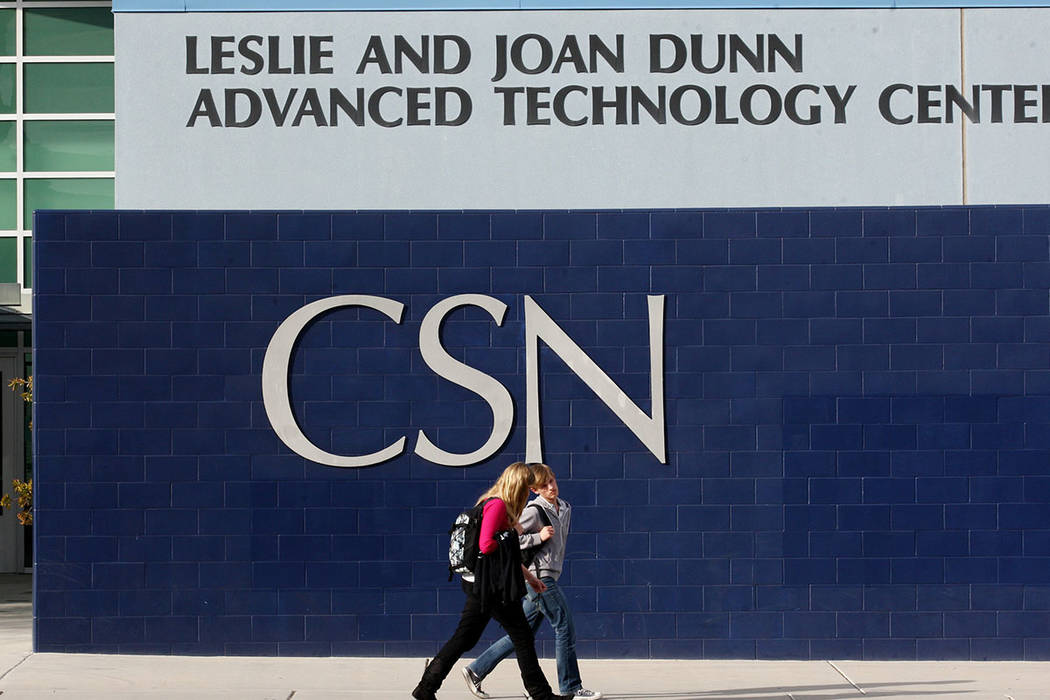 College of Southern Nevada en Henderson (Archivo del Las Vegas Review-Journal)