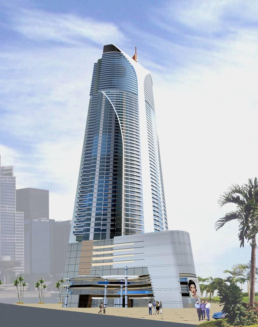 Se suponía que el Ivana Las Vegas, visto en esta representación, se elevaría 80 pisos en la ...