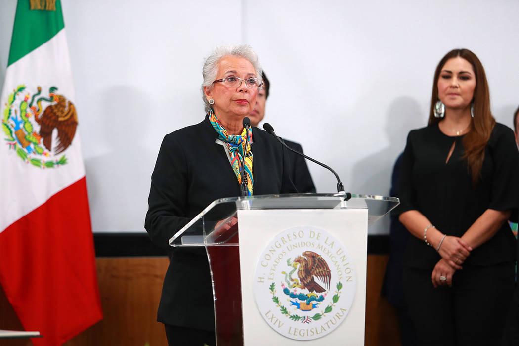 México, 1 Sep 2019 (Notimex-Francisco Estrada).- La secretaria de gobernación, Olga Sánchez ...
