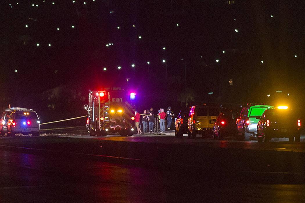 La escena en la que un avión se estrelló justo al sur del Aeropuerto Ejecutivo de Henderson e ...