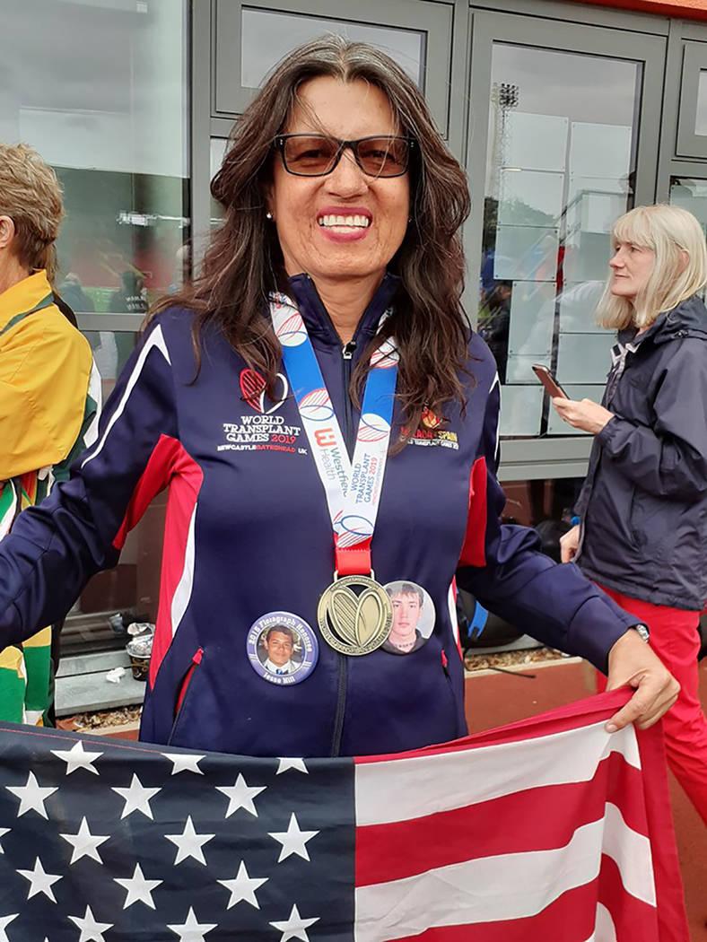 Dinorah Arámbula, madre, abuela, empleada y atleta trasplantada. Juegos Mundiales para Traspla ...