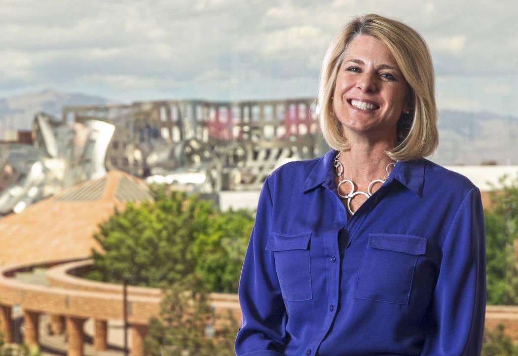 La directora ejecutiva de la Comisión Regional de Transporte del Sur de Nevada, Tina Quigley, ...