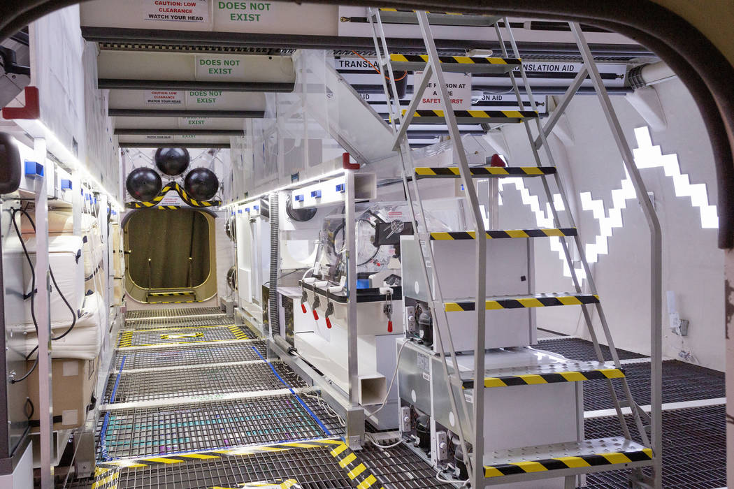 El módulo B330 Mars Transporter Testing Unit durante una gira en Bigelow Aerospace en North La ...