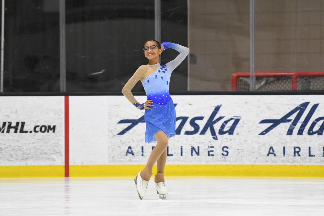 Monet García en una competencia de patinaje artístico a principios de este año. (Fotografía ...