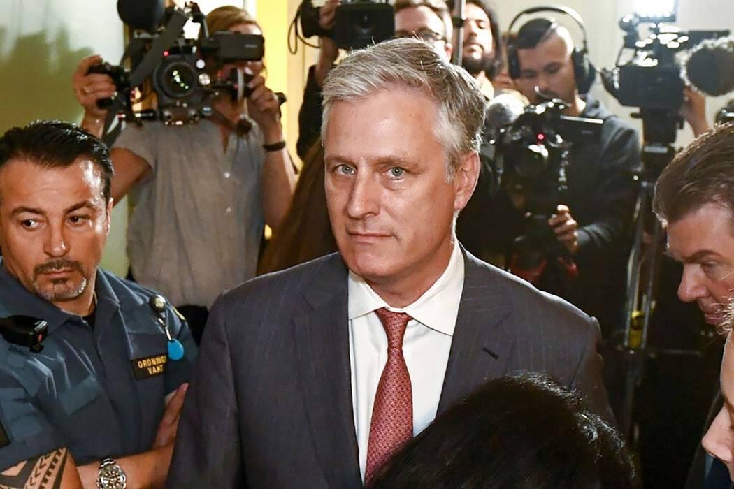 Robert O'Brien, embajador especial de Estados Unidos, llega al tribunal de distrito donde el ra ...