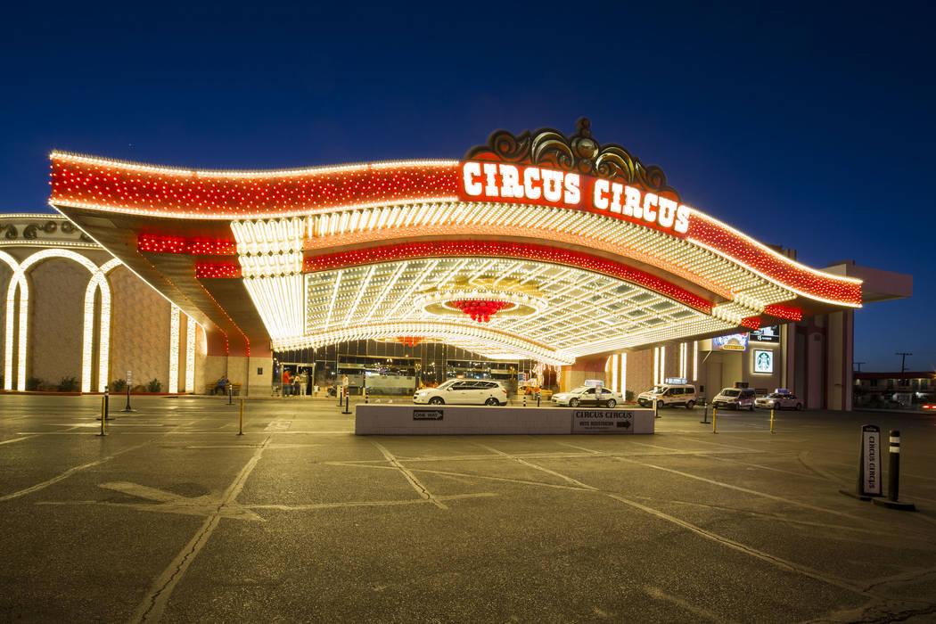 La entrada principal al hotel-resort Circus Circus de MGM en Las Vegas el lunes, 18 de junio de ...