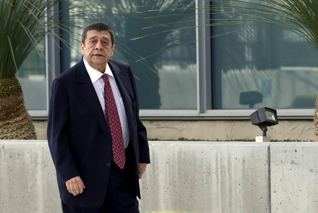 El empresario de Las Vegas, Ramon DeSage, ingresa al Palacio de Justicia Federal de Lloyd Georg ...