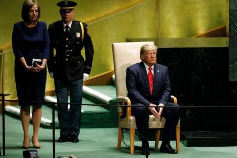 El presidente Donald Trump en la 74a sesión de la Asamblea General de las Naciones Unidas el m ...