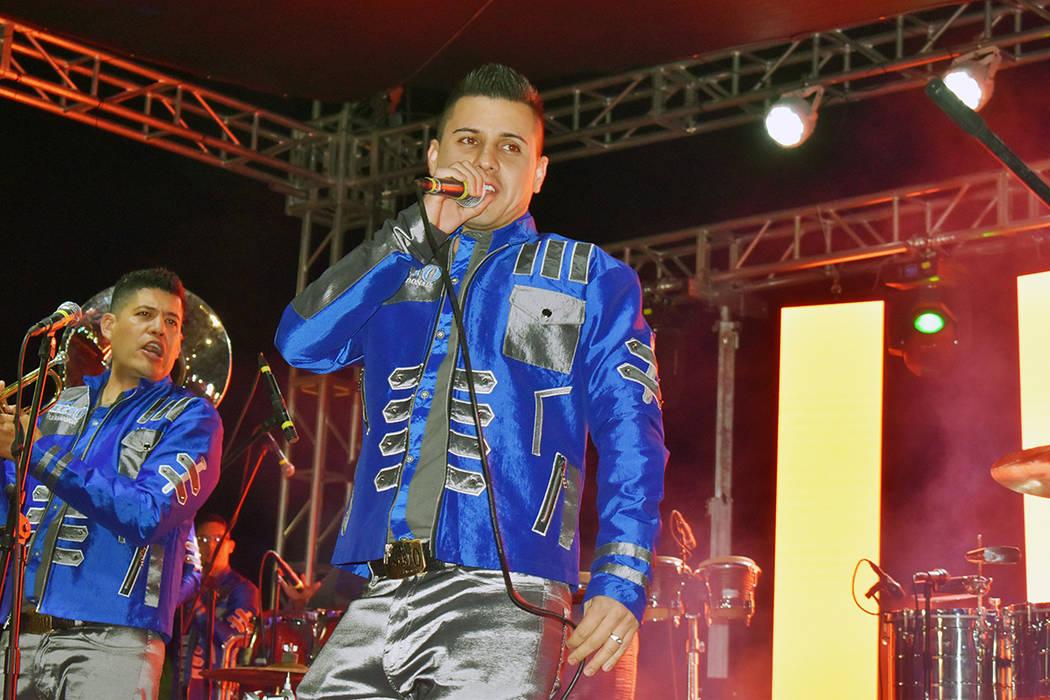 Banda Desierto se encargó de amenizar la noche de apertura en la Feria Las Vegas 2019. Jueves ...