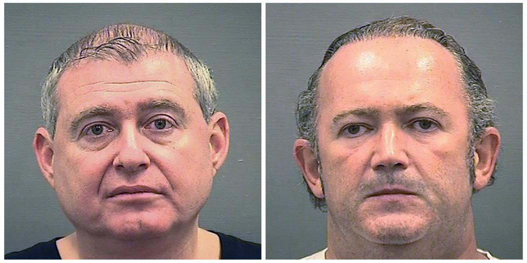 Fotografías de arresto provistas por la Oficina del Alguacil de Alexandria de Lev Parnas, izqu ...