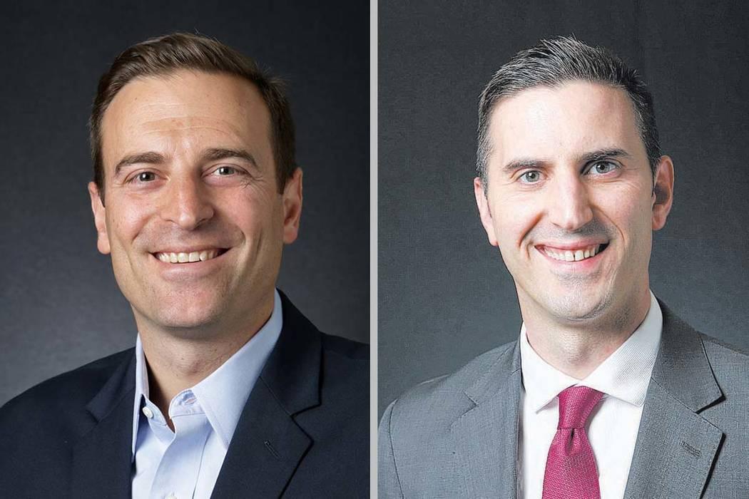 Adam Laxalt, izquierda, y Wes Duncan (Las Vegas Review-Journal).