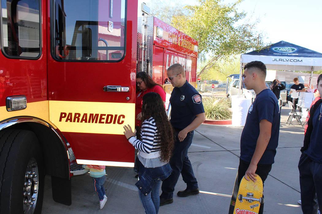 La estación 6 tiene un pequeño museo sobre la historia de los bomberos en Las Vegas. Sábado ...