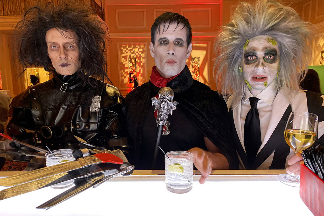 Jeff Damon de Las Vegas, Gary Lewandowski de Los Ángeles y Rick Decarlo de Las Vegas durante l ...