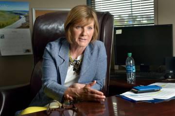 La representante Susie Lee, demócrata por Nevada, durante una entrevista en su oficina ubicada ...