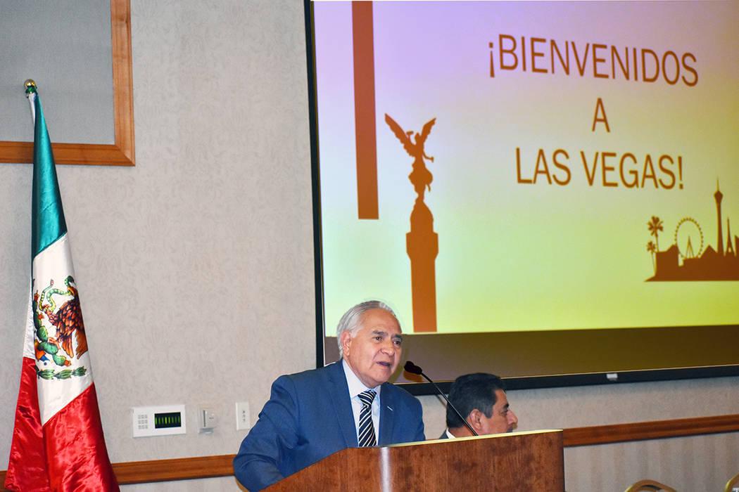 René Ortíz Muñiz, secretario de Mexicanos en el Exterior y Política Internacional del Comit ...