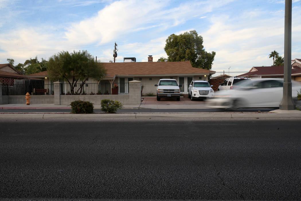 La casa en 705 E. St. Louis Ave. en Las Vegas, donde Karla Rodríguez vivió con su familia ant ...