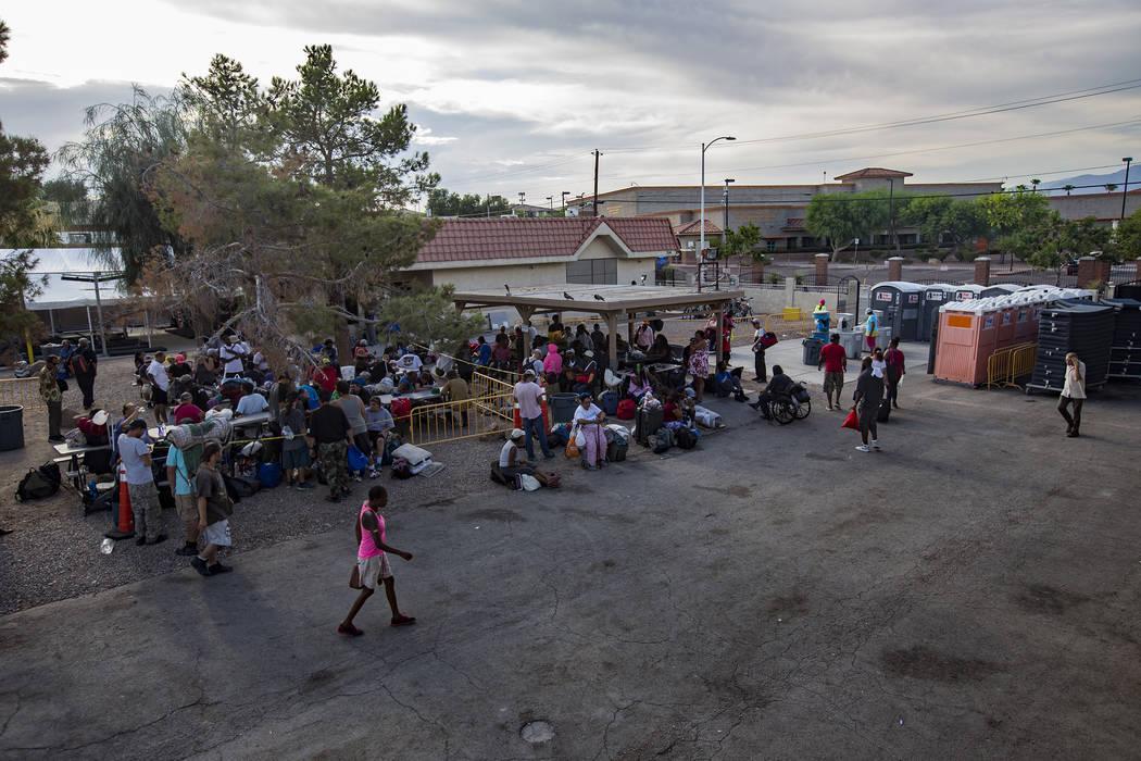 El Courtyard Homeless Resource Center en Las Vegas, miércoles 24 de julio de 2019. (Rachel Ast ...