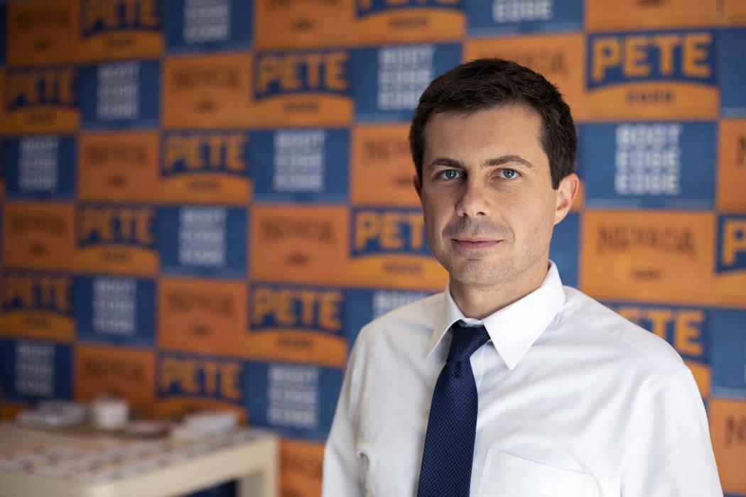 Pete Buttigieg, alcalde de South Bend, Indiana, y candidato presidencial para 2020 el martes, 2 ...