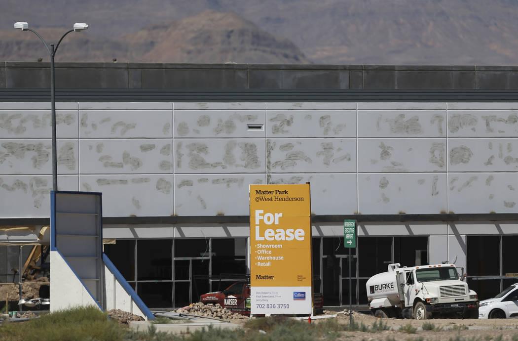 Construcción del proyecto de almacén de Matter Real Estate Group en Henderson, miércoles 21 ...