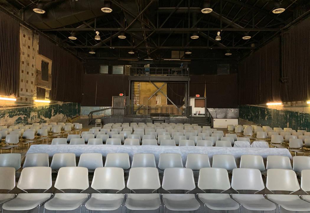 El histórico Teatro Huntridge fotografiado el jueves, 31 de octubre de 2019 en Las Vegas. (Eli ...