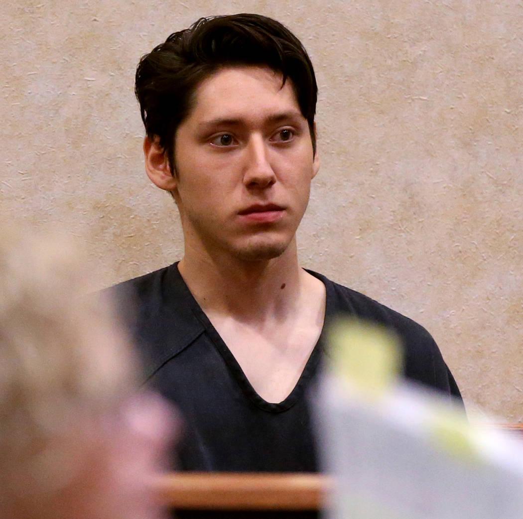 Giovanni Ruiz, de 21 años, comparece ante el Tribunal de Justicia de North Las Vegas el 24 de ...