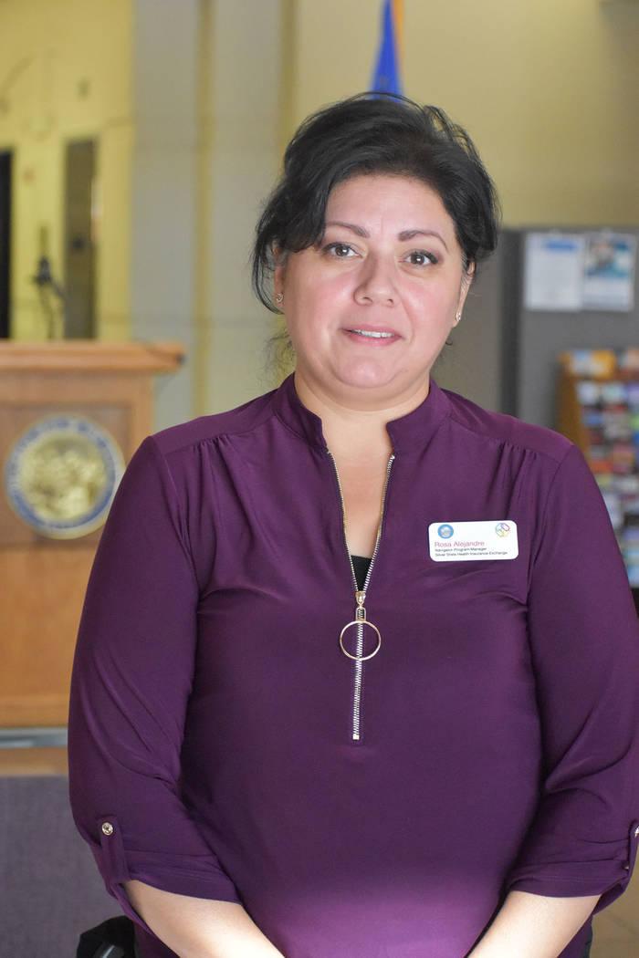 Rosa Alejandre, gerente del programa de navegadores del Silver State Health Insurance Exchange, ...
