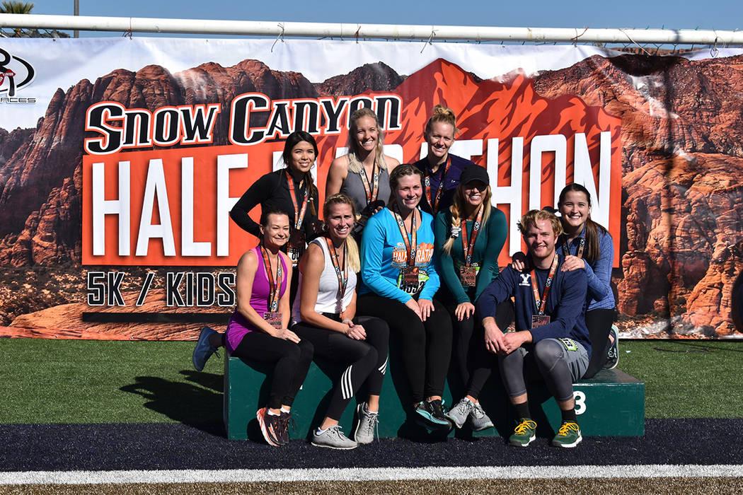 ¡El curso de la media maratón de Snow Canyon es uno de los cursos más espectaculares que el ...