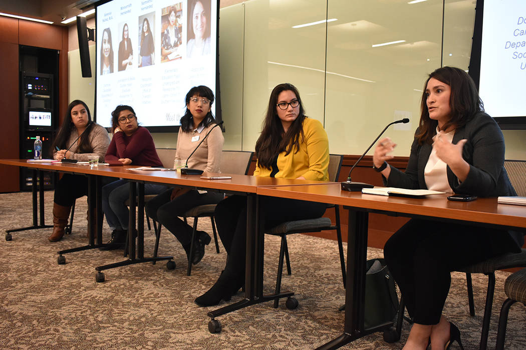 Vanessa Núñez, Mariana Sarmiento, Elsa López, Monserrath Hernández y Mayra Salinas-Menjivar ...