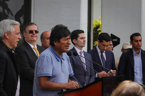 Ciudad de México, 12 Nov 2019 (Notimex-Quetzalli Blanco).- Evo Morales, ex presidente de Boliv ...