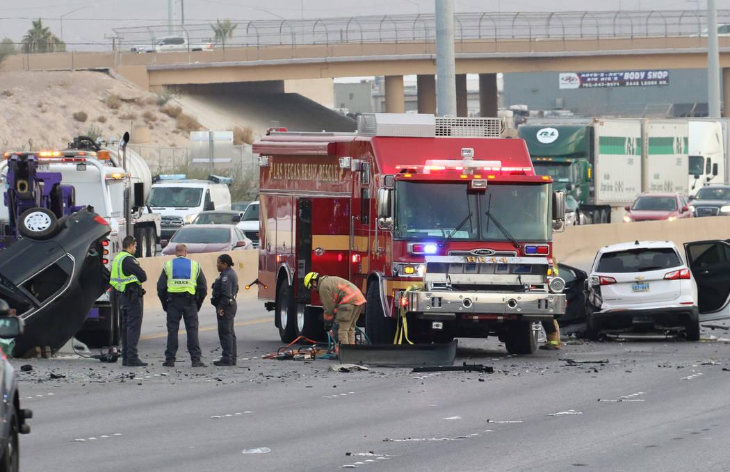 La Patrulla de Carreteras de Nevada investiga después de que una presunta conductora ebria que ...