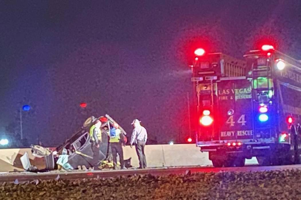 Una persona murió en un accidente automovilístico en la Interestatal 15, cerca de Lake Mead B ...