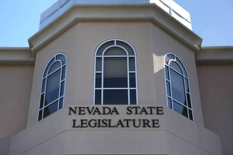 Edificio de la Legislatura de Nevada en Carson City. (David Guzman/Las Vegas Review-Journal) @d ...