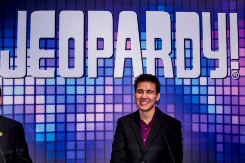 "El campeón de ""Jeopardy!"", James Holzhauer, se presenta durante la Global Gaming Expo 2019 ..."