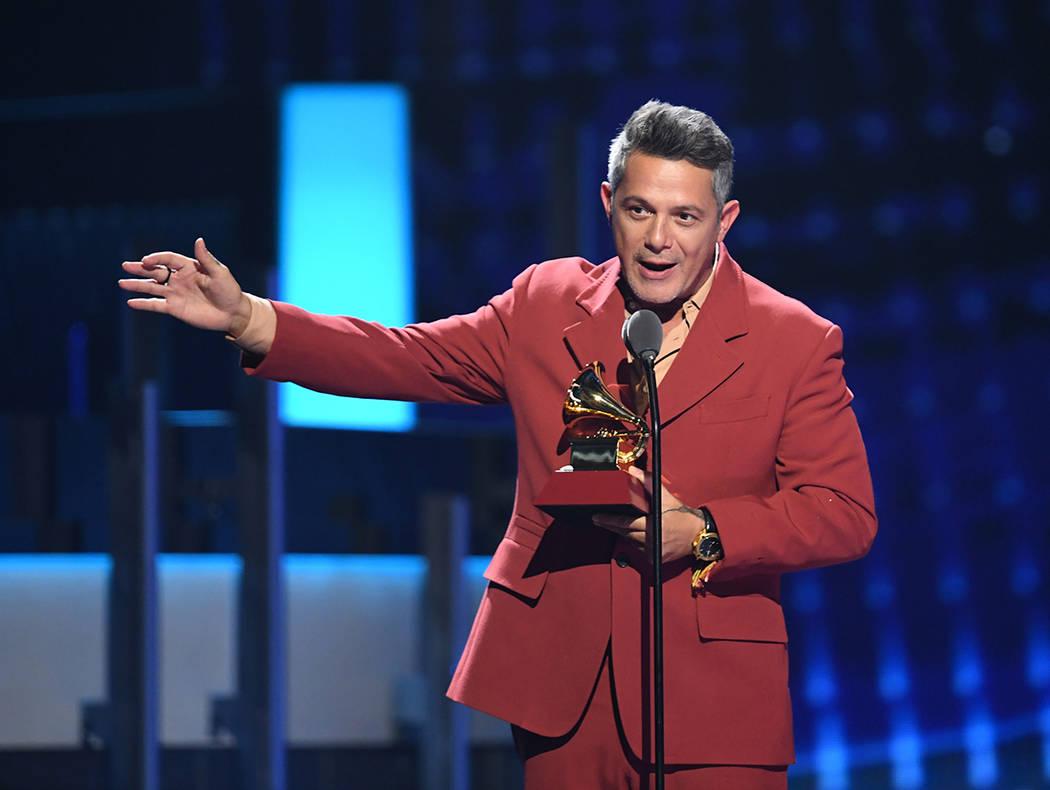 Alejandro Sanz fue uno de los talentos premiados. Jueves 14 de noviembre de 2019 en MGM Grand G ...