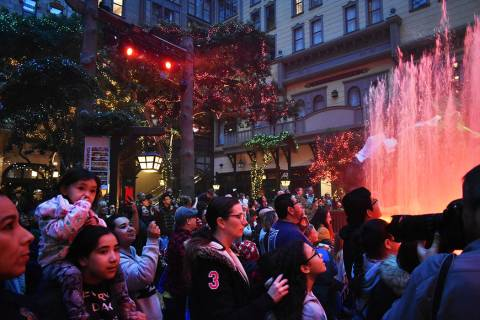Decenas de personas disfrutaron de la apertura del espectáculo navideño en Mystic Falls Park. ...