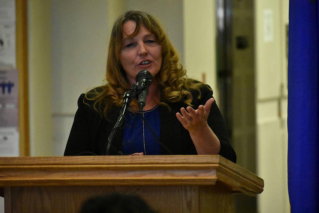La presidente de la Comisión del Condado Clark, Marilyn Kirkpatrick, estuvo presente en el eve ...
