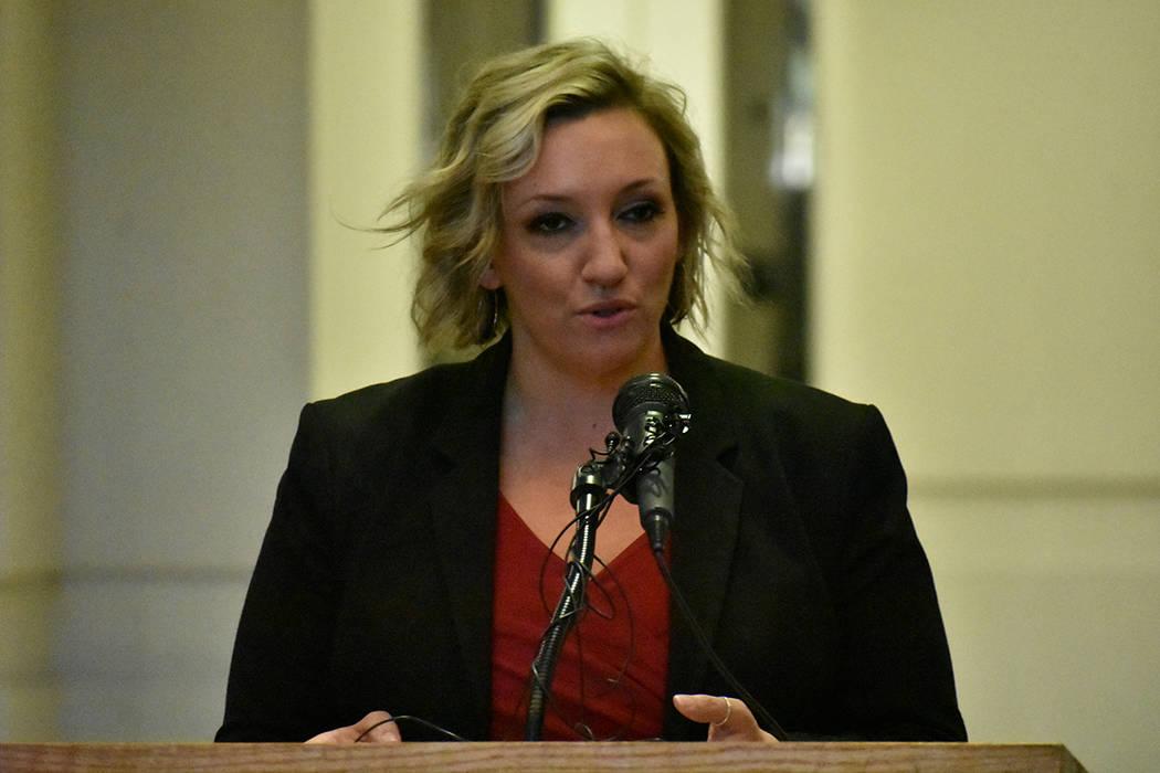 La senadora estatal Nicole Cannizzaro reconoció el esfuerzo a favor de UNLV. Martes 26 de novi ...
