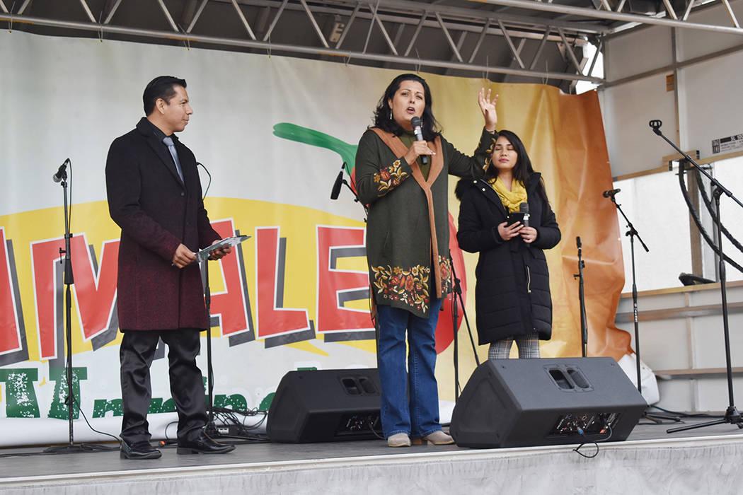 El festival estuvo libre al público, la gente pudo degustar de los tamales y otras delicias cu ...