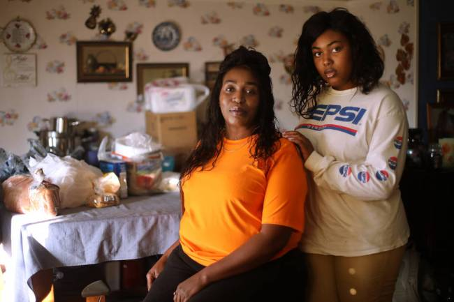 Connie Lewis and her daughter Jenné Lewis at their home in Las Vegas, Saturday, Nov. 23, 2019. ...