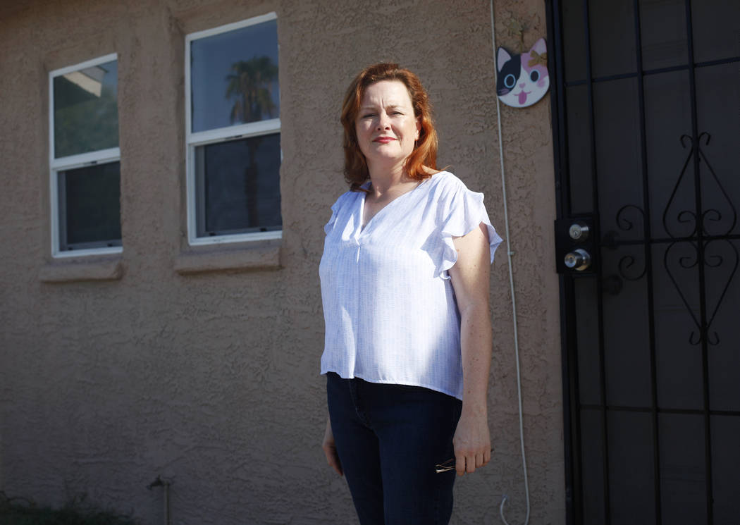 Traci Spencer-Roche outside her King Futt's PFM rental home in Las Vegas, Tuesday, Aug. 28, 201 ...