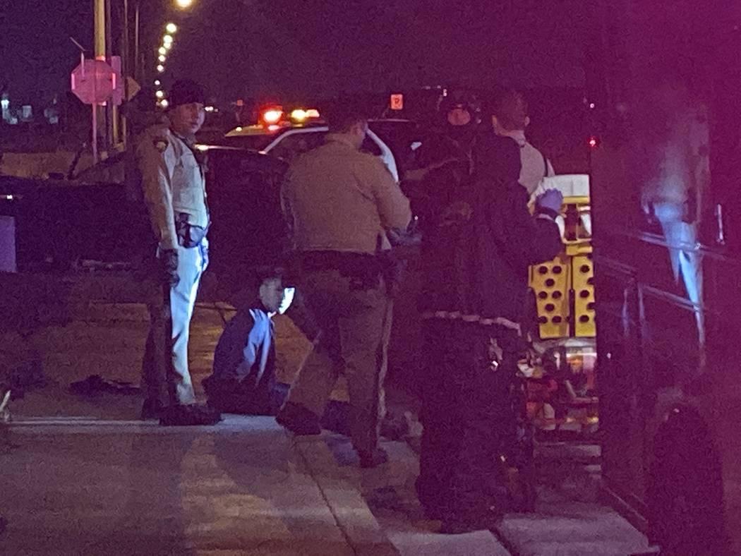 Un hombre sospechoso fue detenido tras una persecución policial en Las Vegas el viernes por la ...