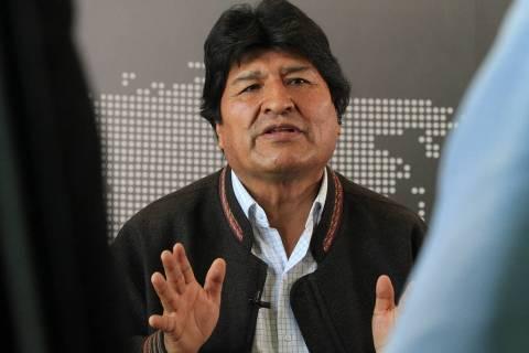 ARCHIVO. México, 30 Nov 2019 (Notimex-Javier Lira).- El expresidente Evo Morales sostiene que ...