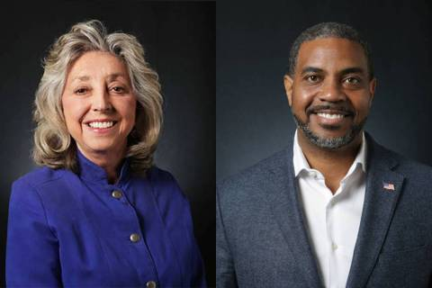 Congresistas Dina Titus y Steven Horsford. [Fotos Las Vegas Review-Journal]